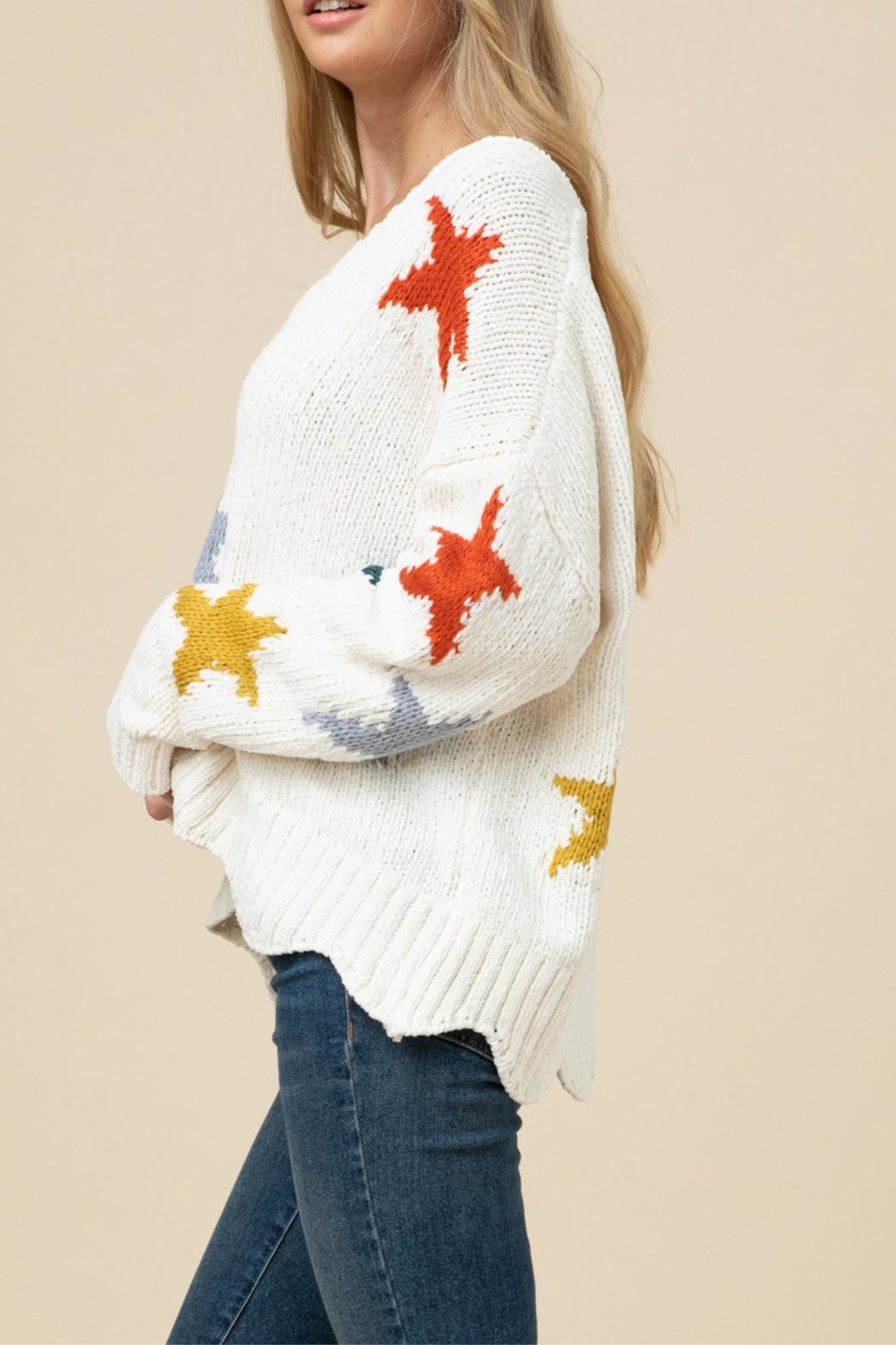 Entro Soft Star Sweater - Back Cropped Image