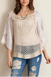 Entro Solid Crochet Top - Product Mini Image