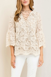 Entro Solid Lace Top - Product Mini Image