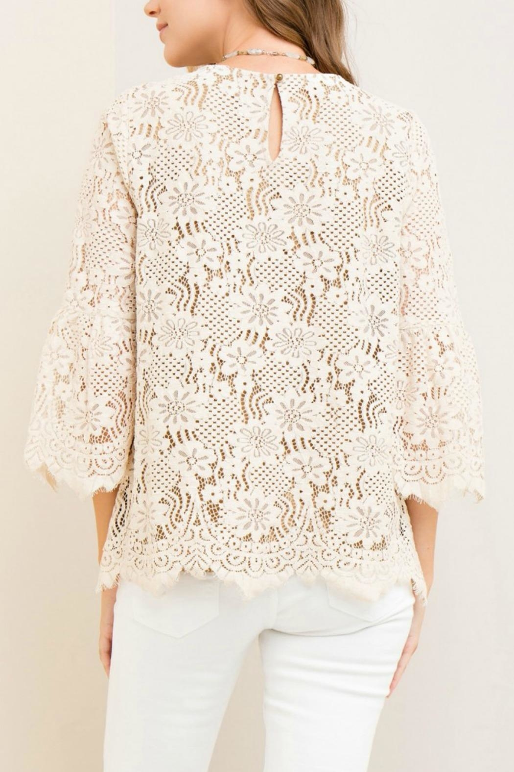 Entro Solid Lace Top - Side Cropped Image