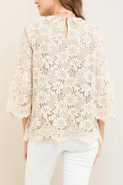 Entro Solid Lace Top - Side cropped