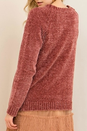 Entro Solid Love Sweater - Front full body