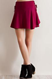 Entro Solid Ruffle Skirt - Side cropped