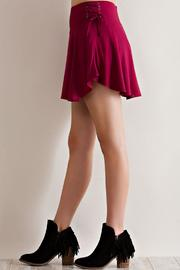 Entro Solid Ruffle Skirt - Front cropped