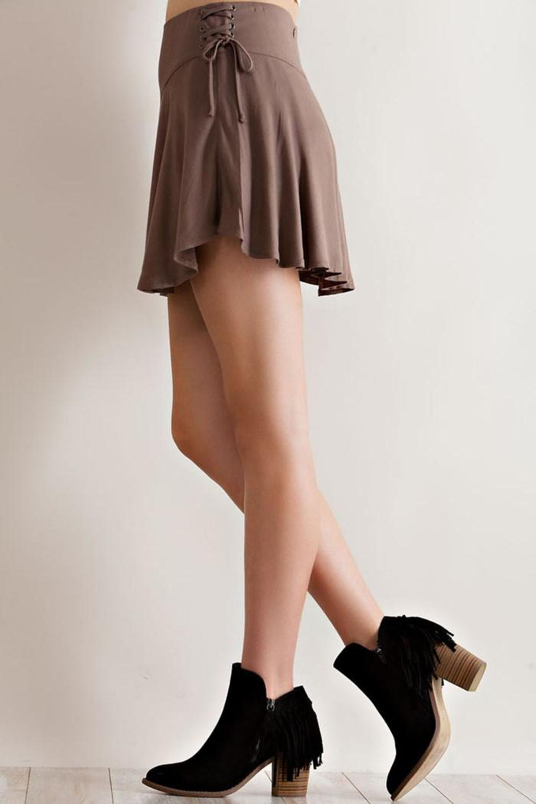 Entro Solid Ruffle Skirt - Front Full Image