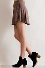 Entro Solid Ruffle Skirt - Front full body
