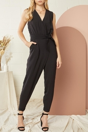 Entro Solid Sleeveless Jumpsuit - Front cropped