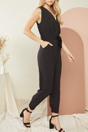 Entro Solid Sleeveless Jumpsuit - Back cropped