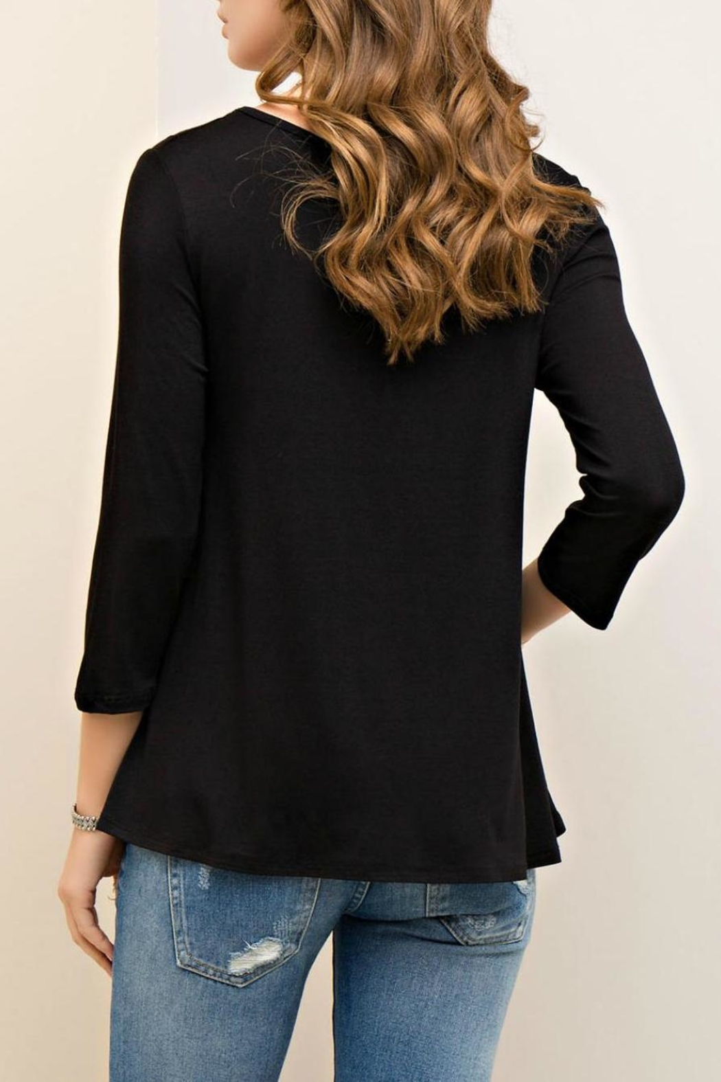 Entro Solid Viscose Top - Back Cropped Image