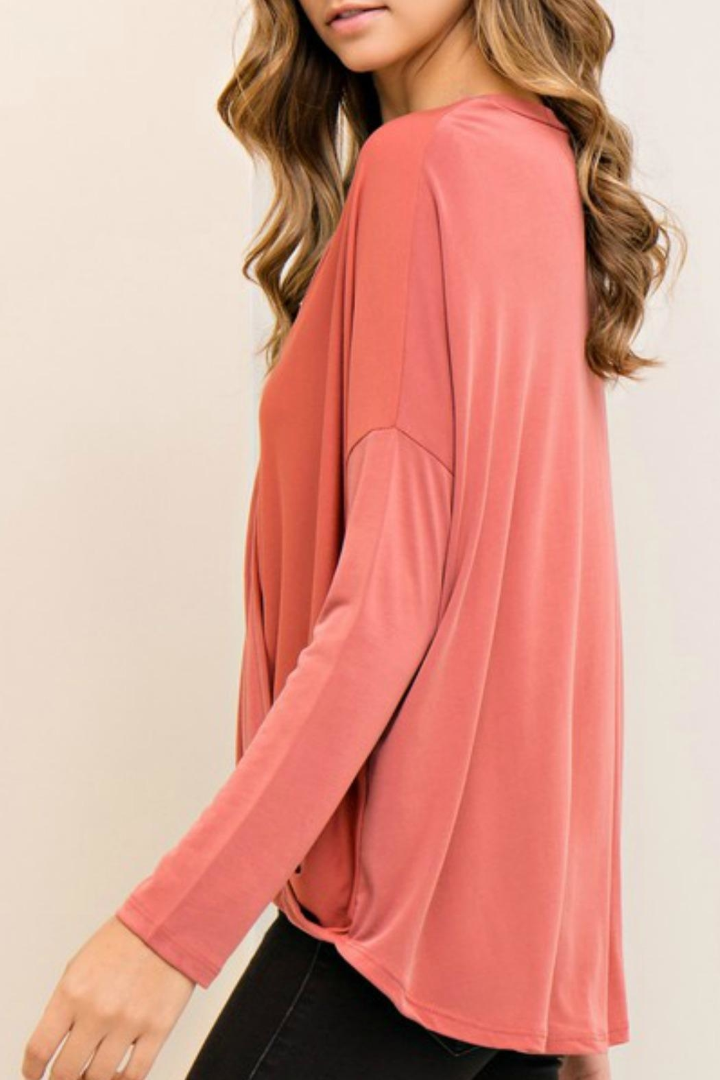 Entro Solid Wrap Top - Front Full Image