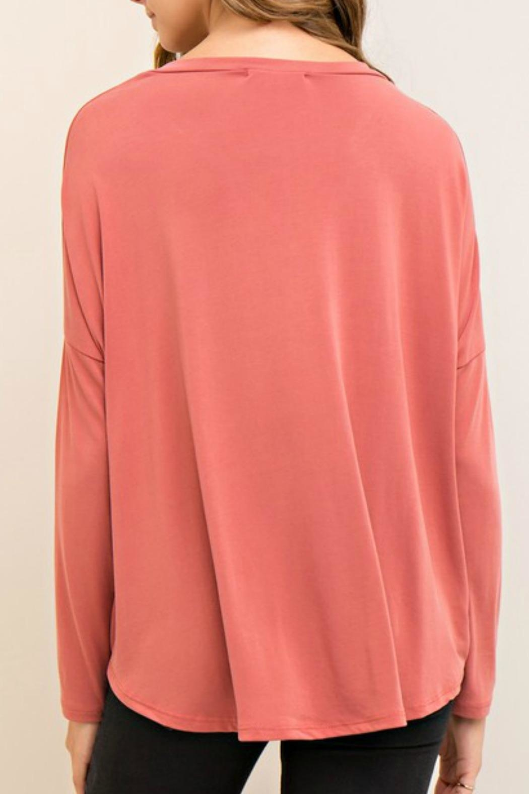 Entro Solid Wrap Top - Side Cropped Image