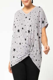 Entro Star-Print Front-Knot Top - Product Mini Image