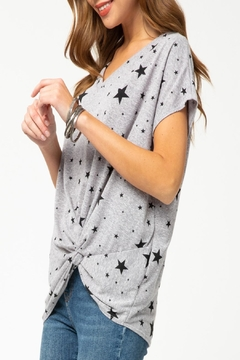 Entro Star-Print Front-Knot Top - Alternate List Image