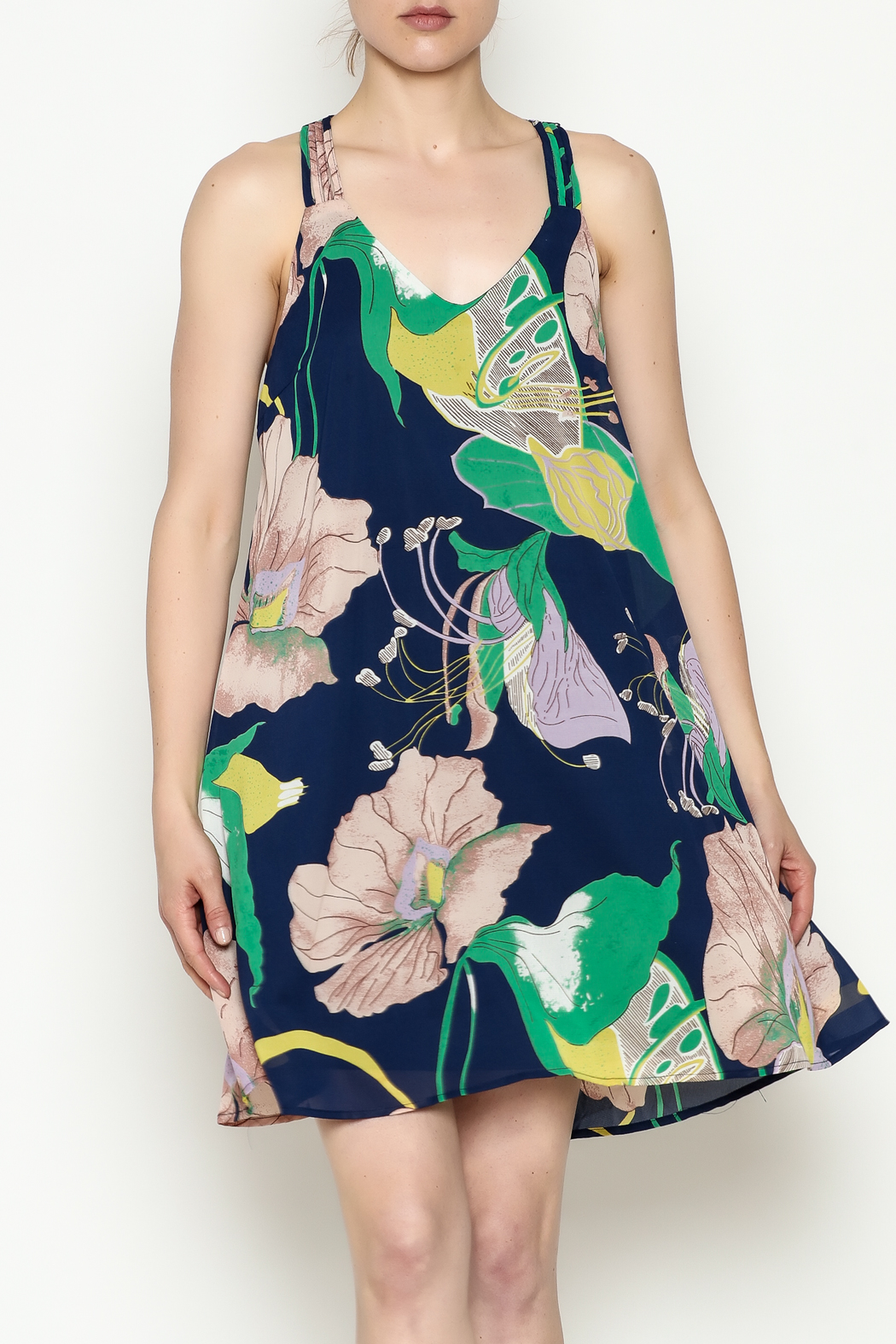 Entro Strappy Detail Dress - Main Image