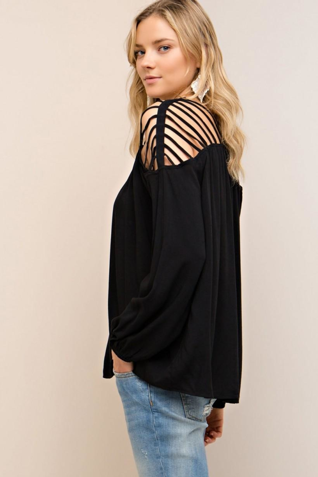 Entro Strappy Detail Top - Back Cropped Image