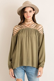 Entro Strappy Detail Top - Front full body