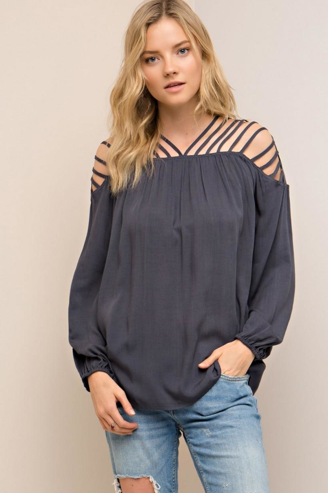 Entro Strappy Detail Top - Main Image