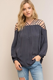 Entro Strappy Detail Top - Front cropped