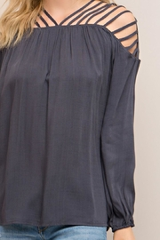 Entro Strappy Detail Top - Back cropped