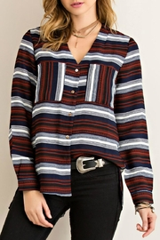 Entro Stripe Button Down Top - Product Mini Image
