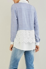 Entro Stripe Crochet Shirt - Front full body