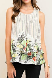 Entro Stripe Floral Top - Product Mini Image