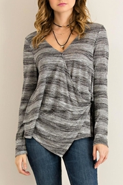 Entro Striped Asymmetrical Shirt - Product Mini Image