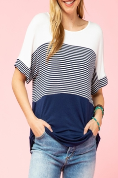 Shoptiques Product: Striped Color-Block Top
