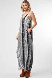 Entro Striped Paisley V-Neck Maxi Dress - Other