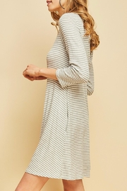Entro Striped Shift Dress - Side cropped