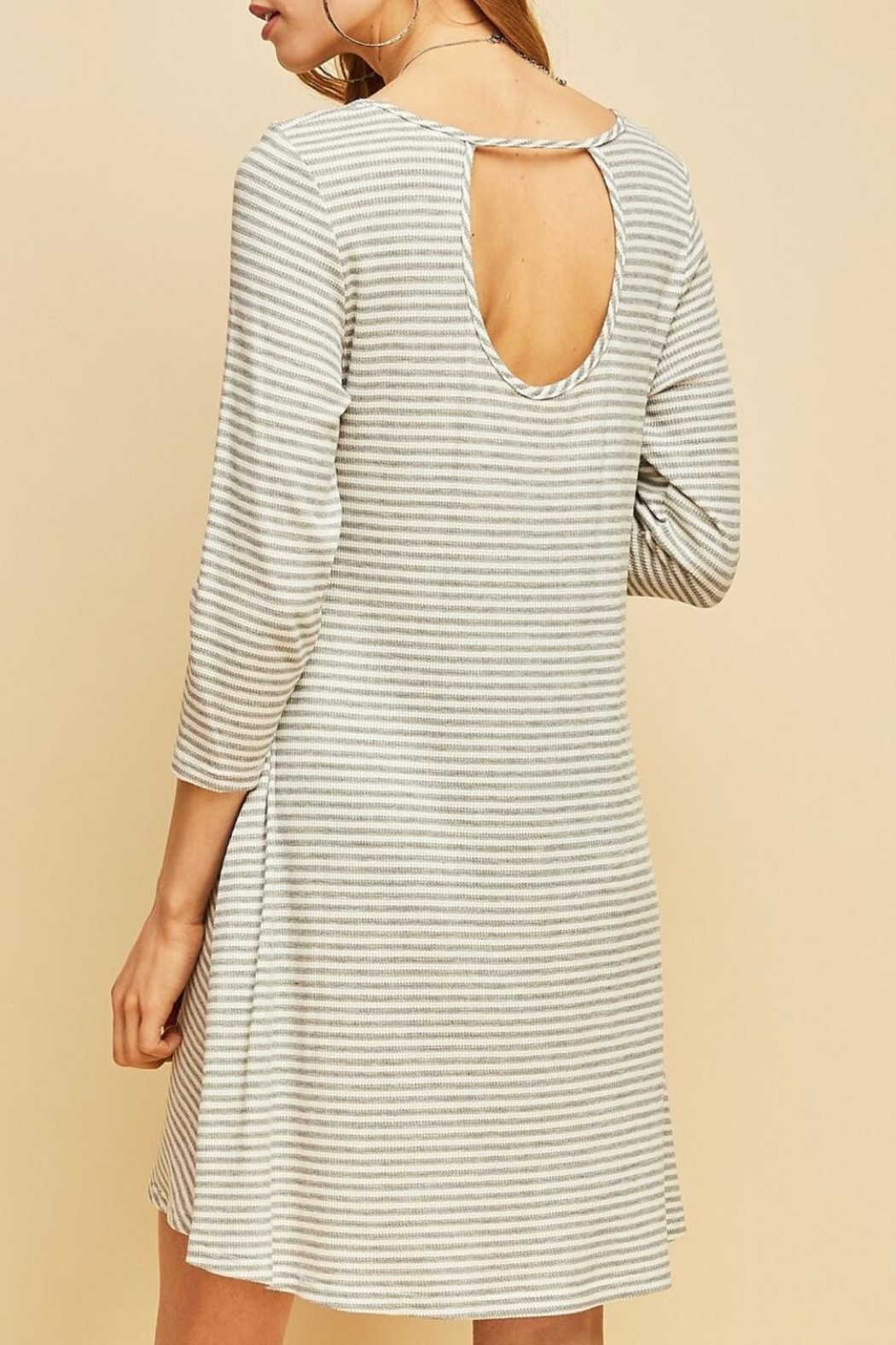 Entro Striped Shift Dress - Front Cropped Image