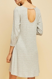 Entro Striped Shift Dress - Front cropped