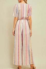 Entro Striped Shortsleeve Jumpsuit - Side cropped