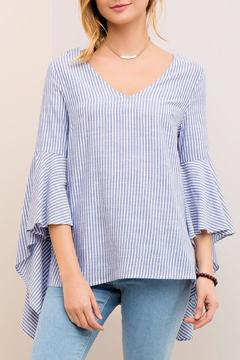 Shoptiques Product: Striped Bell Sleeve