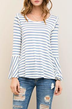 Shoptiques Product: Stripes & Ruffles Top
