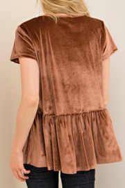 Entro Tan Velvet Top - Back cropped