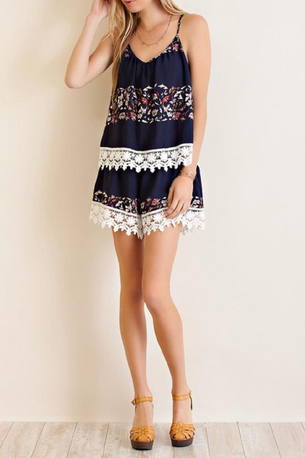 Entro The Beatrice Romper - Back Cropped Image