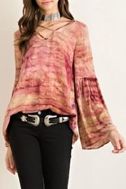 Entro Tie Dye Crinkle Top - Front cropped