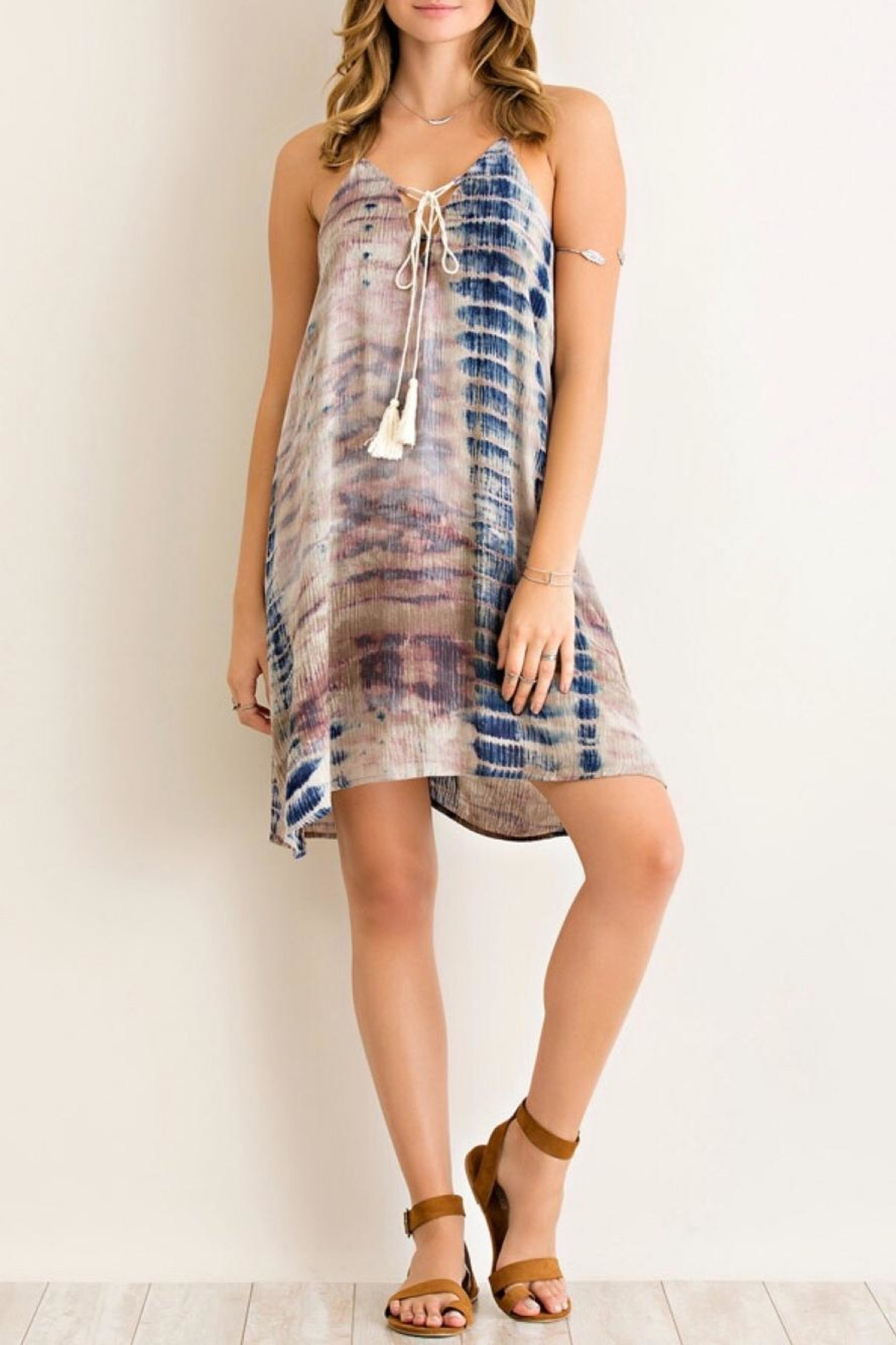 Entro Tie Dye Dress - Front Full Image