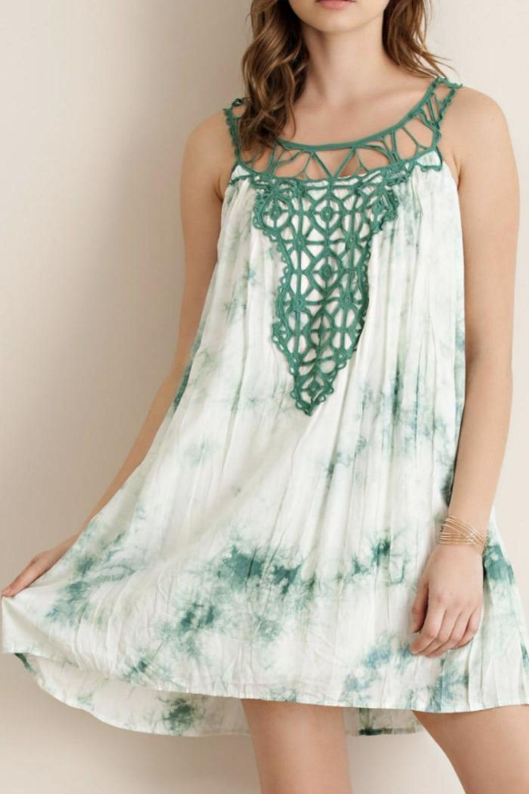 Entro Tie-Dye Tent Dress - Front Cropped Image