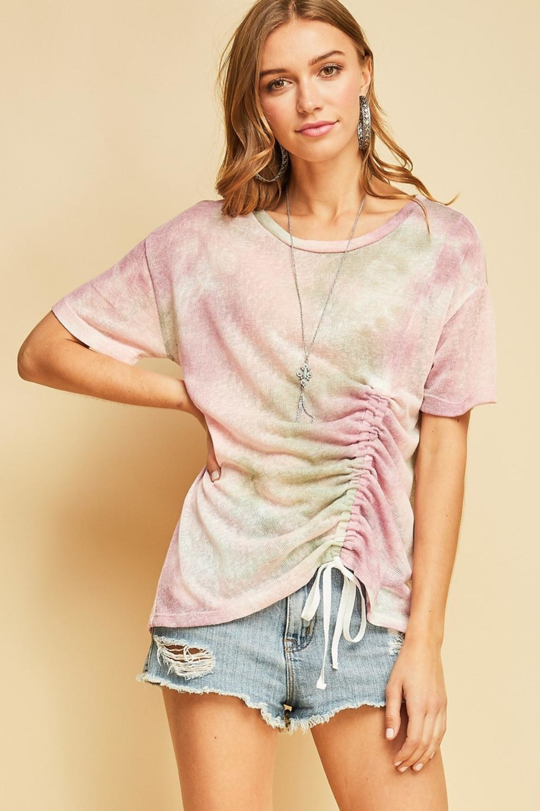 Entro Tie Dye With Tie - Front Cropped Image