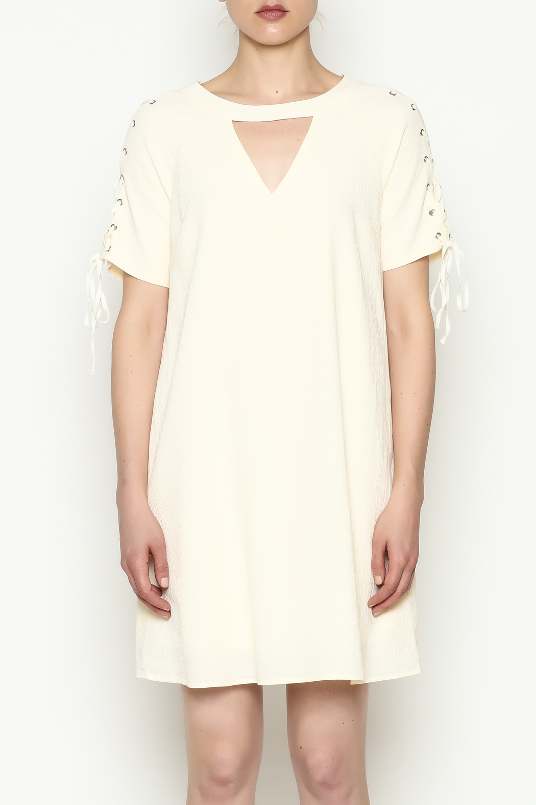 Entro Tie Sleeve Dress - Front Full Image