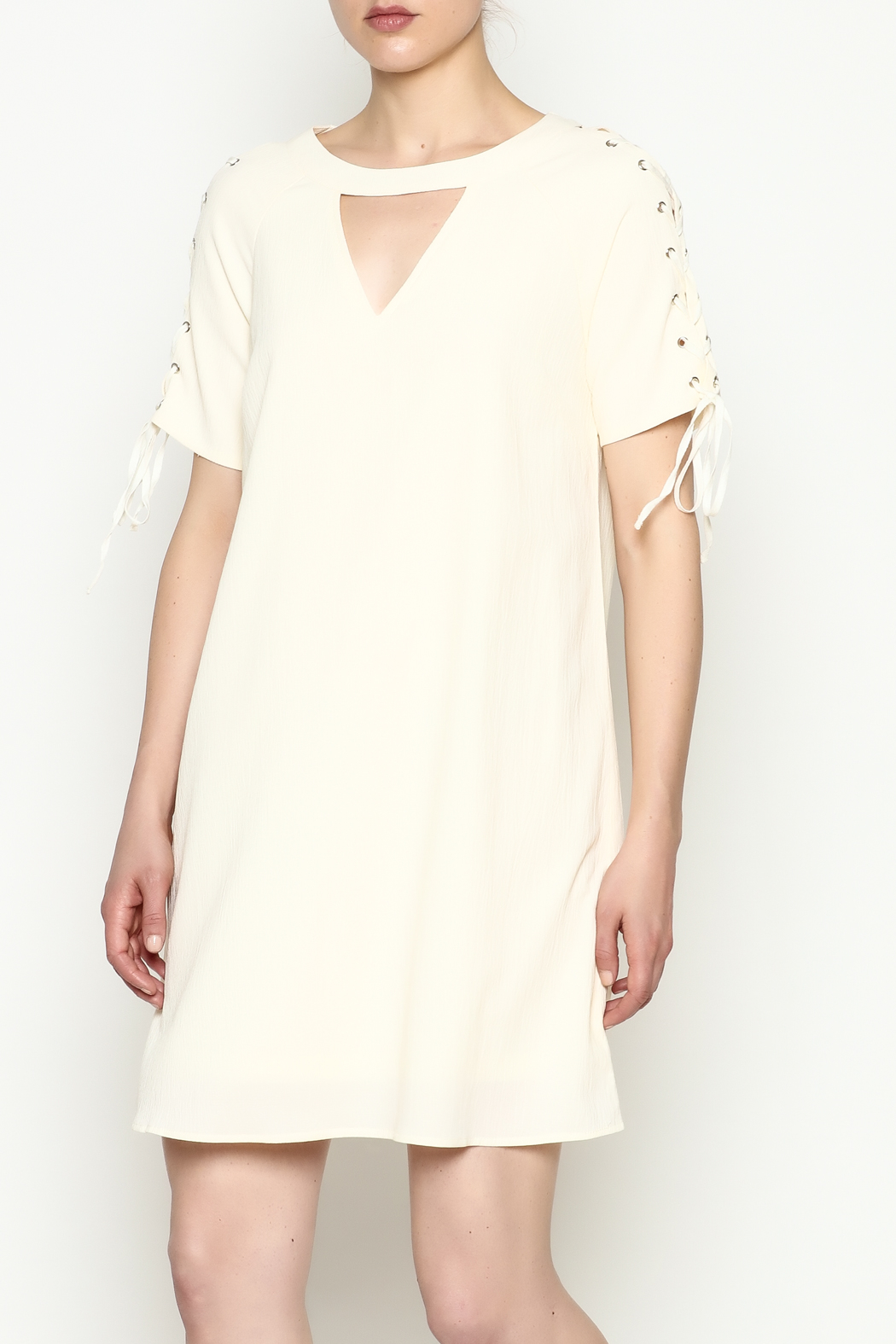 Entro Tie Sleeve Dress - Main Image