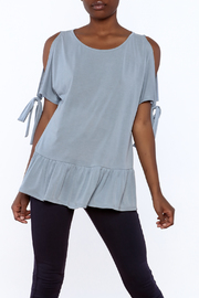 Entro Soft Blue Loose Top - Product Mini Image