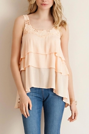 Entro Peach Tiered Sleeveless Top - Product Mini Image