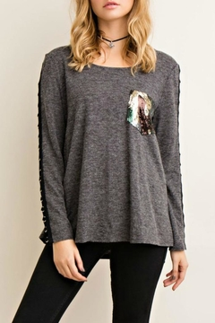 Shoptiques Product: Touch Of Sequin Top