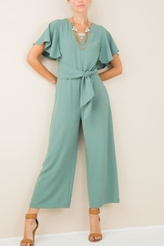 Entro V-Neck Belted Jumpsuit - Product Mini Image