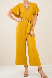 Entro V- Neck Belted Jumpsuit - Product Mini Image
