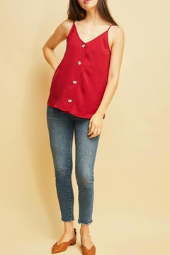 Entro V-Neck Button-Up Top - Product List Image