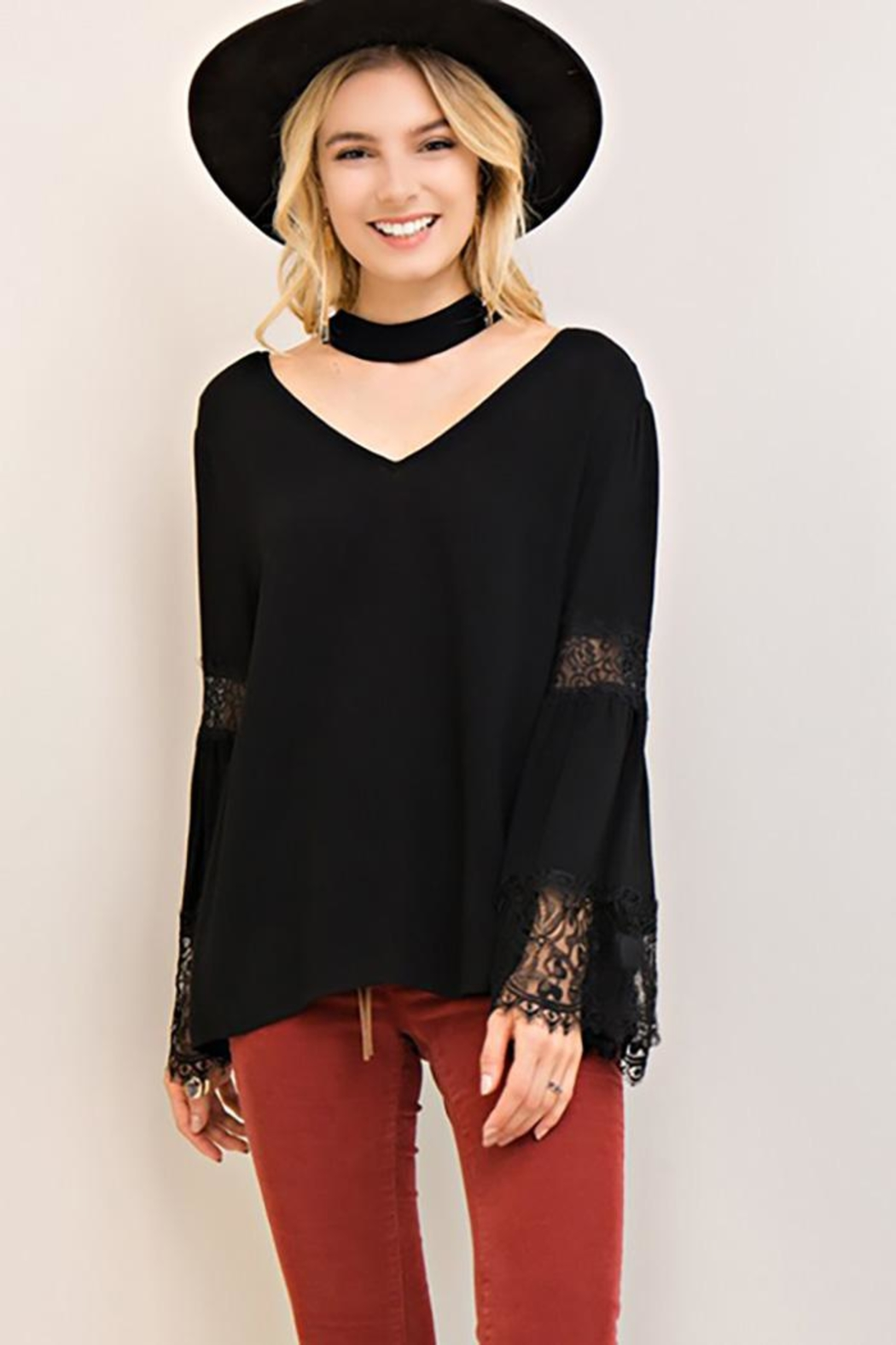 Entro V Neck Choker-Top - Main Image
